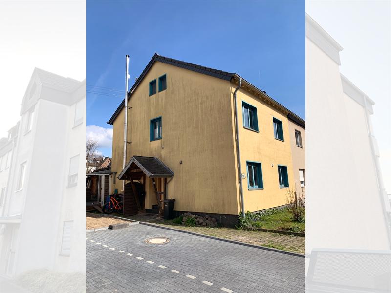 Fassadenreinigung Einfamilienhaus Beispiel 3 Vorher