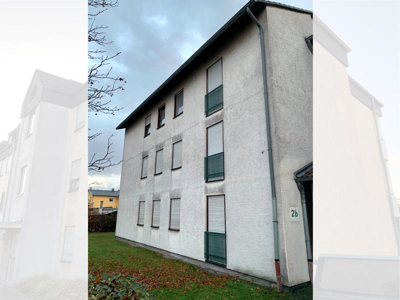 Fassadenreiningung Mehrfamilienhaus Beispiel 3 Vorher