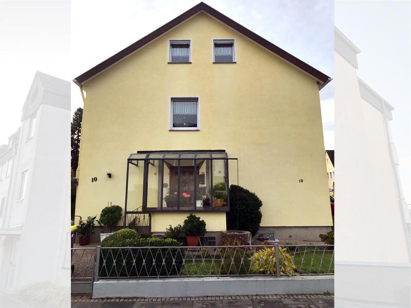 Fassadenreiningung Mehrfamilienhaus Beispiel 4 Nachher