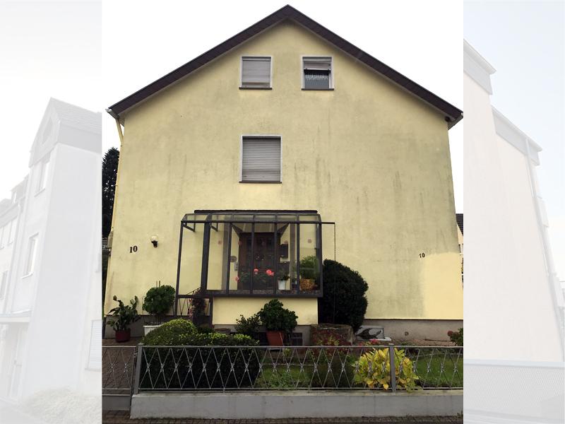 Fassadenreiningung Mehrfamilienhaus Beispiel 4 Vorher